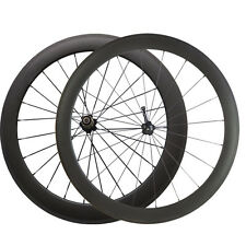 700C 50mm+60mm Depth Clincher Bicycle Carbon Wheels Cycling Road Bike Wheelset