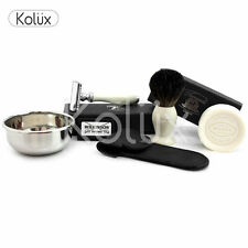 DOUBLE EDGED BLADE SHAVING SOAP RAZOR KIT BEST PRICE 6 PC KIT SAFETY RAZOR