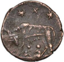 DIONYSOS Urbs Roma AE-Follis Arles Wölfin #JD 6915