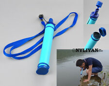 Portable Emergency Life Survival Purifier Water Filter Straw Gear Camping Hiking