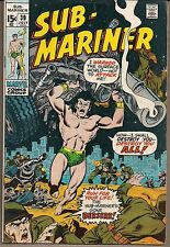 SUB-MARINER #39 MARVEL 07/71 ATTACKS SURFACE WORLD HUNTS DORMA'S KILLER VF/NM