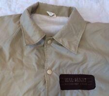 Vtg Walmart Distribution Center Jacket Beige Original Rare Patch Large
