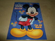 "Disney Mickey Mouse ""I Am All Ears"" Big Fun Book To Color, Made In The USA, NEW!"