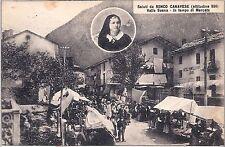 CARTOLINA RONCO CANAVESE - IL MERCATO - ANNI 30 - RIPRODUZIONE *