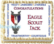 Boy Scout Eagle Scout Scouting Edible Image Icing sheet Cake top Party Topper