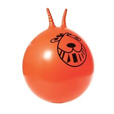 GIANT ADULT ORANGE RETRO SPACE HOPPER - Adult Kids with Foot Pump 80 cm Large