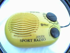 vintage perlier am fm sport radio for parts or repair missing back cover knob