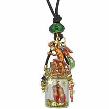 NEW KIRKS FOLLY WIZARD OF OZ RUBY SLIPPERS IN A BOTTLE NECKLACE GOLDTONE