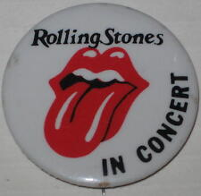 "The Rolling Stones In Concert Logo Tour Pin Approx 1.75"" Has Spots"