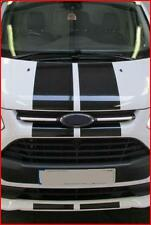 PRE CUT BLACK GLOSS FORD TRANSIT SPORT CUSTOM BONNET STRIPES STICKERS GRAPHICS