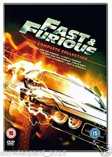 FAST AND FURIOUS MOVIES 1 2 3 4 5 COLLECTION DVD FILMS NEW SEALED UK Release R2