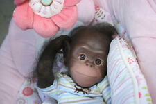 REBORN Monkey CHAZ CHIMP by Denise Pratt VINYL Kit, Painted & Rooted for you !!