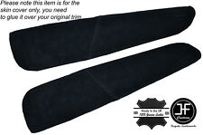 BLACK SUEDE 2X FRONT DOOR ARMREST COVERS FITS BMW E46 CONVERTIBLE & COUPE 98-05