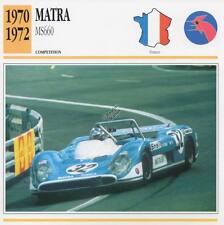 1970-1972 MATRA MS660 Racing Classic Car Photo/Info Maxi Card