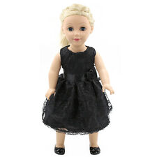 "Fits 18"" American Girl Madame Alexander Handmade Doll Clothes black dress MG024"