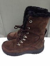 Womens Columbia Lavela II -25F Brown Suede  Lace Up Winter Boots  Fur Lined 6
