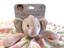 Blankets and Beyond Security Blanket Elephant Pink Lovey Baby New