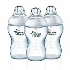 Tommee Tippee Closer to Nature Added Cereal Bottle, Clear, 11 Ounce, New