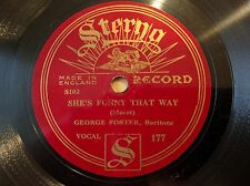 GEORGE FOSTER on STERNO 177 She's Funny That Way - British Pop 78 E-