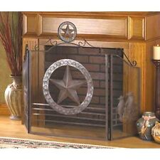 Western Fireplace Screen Divider Star Texas Style Fire Place