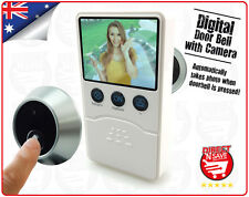 Digital Doorbell Camera Automatically Takes Photo When Door Bell is Pressed