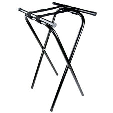 """Restaurant Catering 31"""" Dining Room Black Folding Metal Tray Stand 3711154"""