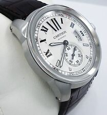 CARTIER CALIBRE AUTOMATIC STAINLESS STEEL PAPERS REF# W7100037