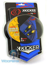 KICKER 05SV2 6.6FT TRUE 75 OHM INTERCONNECT VIDEO CABLE SHIELDED FLEXIBLE RCA