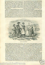 Costume Dresses Fashion Robe Ohre Egra Eger Czech Germany GRAVURE OLD PRINT 1848