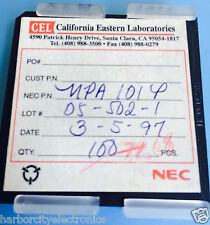 UPA101P NEC IC WAFER DIE PACKAGE 68/units