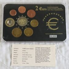GERMANY 2007 COMMEMORATIVE 2 EURO IN 8 COIN EURO TYPE SET - pack/coa