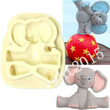 Sugar Buttons Baby ELEPHANT Fondant Cake Silicone Mould Cupcake Decorative Fimo