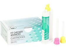 FIT CHECKER ADVANCED GC WHITE CARTRIDGES. 2x48ml. VPES DENTAL SILICONE SILICONA.