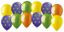 12 pc Barney Inspired Latex Balloon Assortment Purple Lime Green Baby Bop Party
