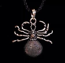 """Spider Necklace Guy Fashion Personality Metal Pendant Necklace 17""""-21"""" NIB"""