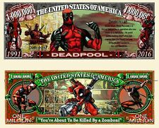 DEADPOOL Million Dollar Bill Fun Money Novelty Note