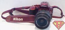 Nikon D5500 DSLR Camera (Red) with AF-S Nikkor 18-55mm/3.5-5.6G VRII Lens Used