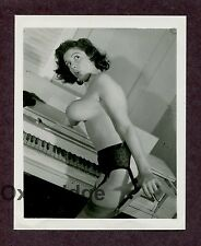 Sally Lux Huge Breasts Burlesque Star 1950 Original Nude Pinup Photo B1423