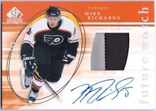 MIKE RICHARDS 2005-06 UD SP Authentic Limited Rookie Jersey Patch Auto Card /100