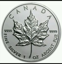 2009 CANADA Canadian Maple Leaf Silver Bullion Coin $5 BU UNC FREE CAPSULE