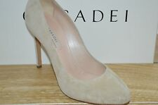 NIB CASADEI Womens ESTEVEZ Taupe Suede Pointed Toe Pumps Size 10 EUR 40