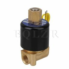 """Electric Solenoid Valve Water Air 110V AC 1/4"""" Normally Open 2 Way 2 Position"""