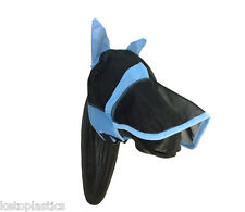 FULL BLUE FLY MASK VEIL FOR HORSES / HORSE  - SIZE M (MEDIUM)