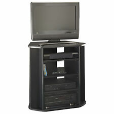 Corner TV Stand Black Tall Entertainment Center Media Console Furniture Wood New