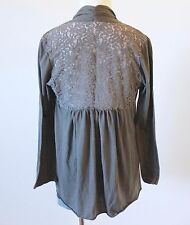 Women's Lace Back Cocoon Open Cardigan Kimono Duster Shawl Tunic Top Blouse M