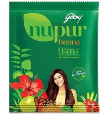 Godrej Nupur Henna - Natural Henna with 9 Herbs for Hair Color 120gm