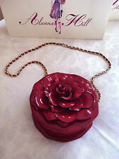 Alannah Hill Red Patent Leather Rose Handbag