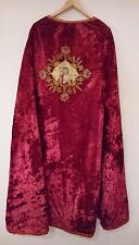 19th c. Antique Russian Stole Vestment Red Velvet.