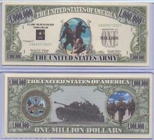 Commemorative US Bill United States Army with Protector One Million Dollars