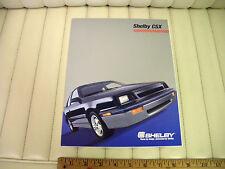 1987 Dodge Shelby CSX Color Car Sales Brochure